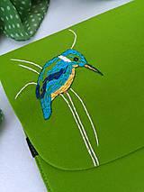 Na notebook - Rybárik (ručne vyšívaná plstená taška) - 11128404_