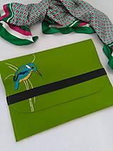 Na notebook - Rybárik (ručne vyšívaná plstená taška) - 11128405_