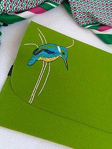 Na notebook - Rybárik (ručne vyšívaná plstená taška) - 11128402_