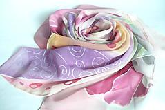 Šatky - Šátek z hedvábného žoržetu. - 11129161_
