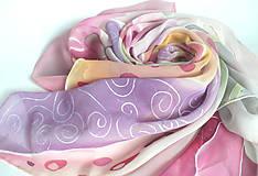 Šatky - Šátek z hedvábného žoržetu. - 11129174_
