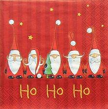 Papier - S1349 - Servítky - Vianoce, santa claus, dedo mráz - 11126959_