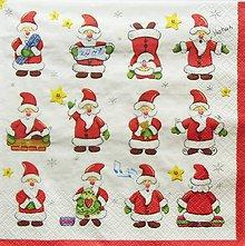 Papier - S1341 - Servítky - Vianoce, santa claus, dedo mráz - 11127128_