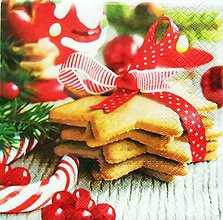 Papier - S545 - Servítky - linecké, medovník, vianoce, - 11127200_