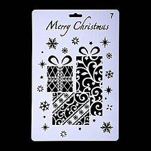 Pomôcky/Nástroje - Šablóna - 26x17 cm - Vianoce, darčeky (7) - 11128704_