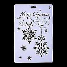 Pomôcky/Nástroje - Šablóna - 26x17 cm - Vianoce, vločky, ozdoby (9) - 11128710_