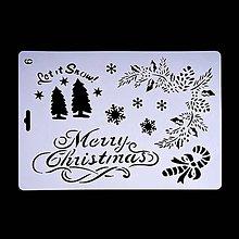 Pomôcky/Nástroje - Šablóna - 26x17 cm - Vianoce, jedlička, ihličie (6) - 11128723_