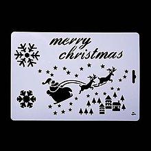 Pomôcky/Nástroje - Šablóna - 26x17 cm - Vianoce, santa, domček, vločka (2) - 11128731_