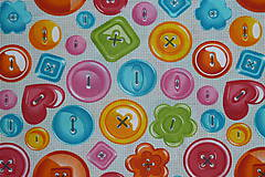Textil - Látka Gombíky - 11128082_