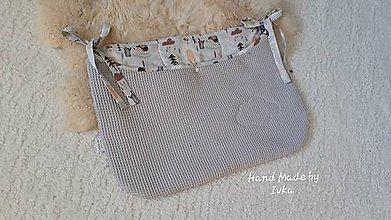 Textil - Plienkovník - vreckár na postieľku   : vafle/bavlna - 11129752_