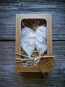 Dekorácie - Kridielka v darčekovej krabičke - 11126688_