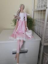 Bábiky - Ružová anjelka na želanie - 11126755_