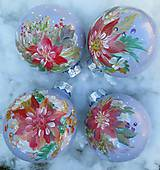 Dekorácie - Vianočné gule ručne maľované - 11128482_