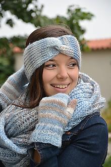 Ozdoby do vlasov - melír v modré - 11128177_