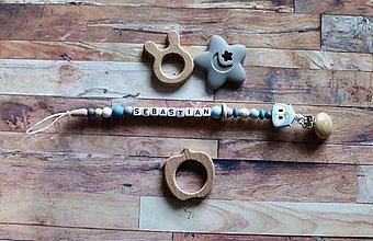 Detské doplnky - držiak na cumeľ alebo hryzátko (sovička) - 11127952_