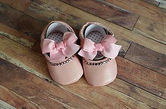 Topánočky - capačky mašľa - 11129237_