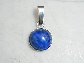 Náhrdelníky - Lapis-lazuli-in silver- - 11130089_