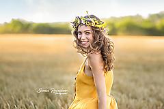 Ozdoby do vlasov - Kvetinový venček Slnečnice - 11126567_