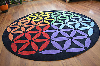 Úžitkový textil - Mandala v koberci  l Feng Shui  l čierna - 11127937_