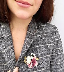 """Odznaky/Brošne - Kvetinová brošňa """"Adéle"""" - 11129125_"""