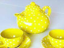 Nádoby - Žltý čajník - 11127775_