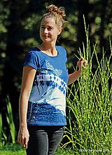 Tričká - Dámske tričko maľované, batikované PIMPINELLA - 11127155_