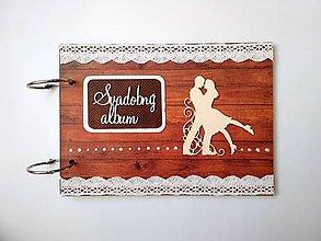 Papiernictvo - Fotoalbum folk svadobný * kniha hostí A5 - 11128336_