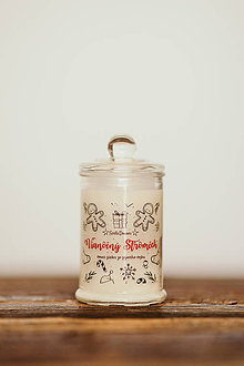 Svietidlá a sviečky - Sviečka zo sójového vosku v skle - Vianočný Stromček 125g/30hod (sviečka) - 11126812_