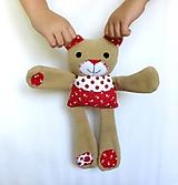 Hračky - Textilné zvieratko - Macko z Tulipánovej doliny - 11130047_