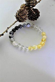 Náramky - turmalín,krištál,citrín náramok ochranný pre znamenie Lev - 11129594_