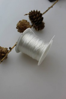 Galantéria - gumička plochá na navliekanie korálok SUPERAKCIA! - 11130094_