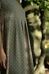 Šaty - Ľanové šaty prírodné bodkované - 11130077_