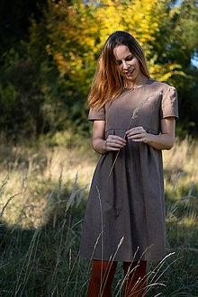 Šaty - Ľanové šaty stone - 11130069_