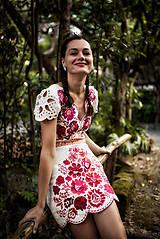 Šaty - krátke béžové šaty Poľana - 11128983_