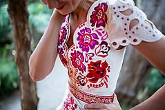 Šaty - krátke béžové šaty Poľana - 11128984_