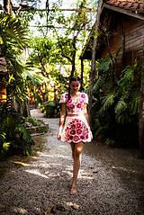 Šaty - krátke béžové šaty Poľana - 11128987_