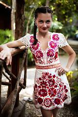 Šaty - krátke béžové šaty Poľana - 11128988_