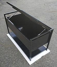 Nábytok - Industriálny kovový botník s odkladacím priestorom - 11128595_