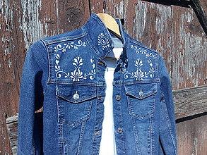 Kabáty - Riflová bunda-Margarétka - 11128531_