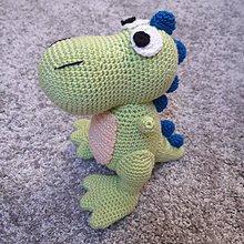 Hračky - Háčkovaný Dino - 11128431_