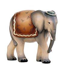 Dekorácie - Zvieratá pre Betlehem – Slon - 11126606_
