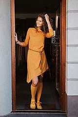 Šaty - Šaty Olívia s rolákom (S - Horčicová) - 11127929_