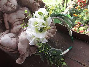 Ozdoby do vlasov - biele ruže - 11127749_
