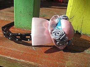 Ozdoby do vlasov - ružový klobúčik - 11127763_