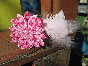 Ozdoby do vlasov - perličková kvetinka - 11127798_