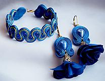 Sady šperkov - Šujtášový set Indická Princezná - kráľovská modrá - 11129020_