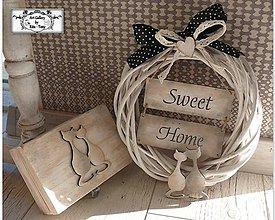 "Dekorácie - Veniec na dvere+krabička ""I ♥ cats"" :) - 11128360_"