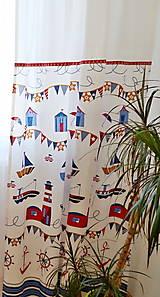 Úžitkový textil - Dekoračné závesy do detskej izby - kolekcia Námorník - 11127042_
