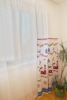 Úžitkový textil - Záclona do detskej izby - kolekcia Námorník - 11127078_