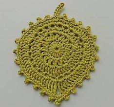 Úžitkový textil - Prestieranie/Podšálky - lístky (Prestieranie/Podšálky - lístky - svetlá anízová zelená) - 11128955_